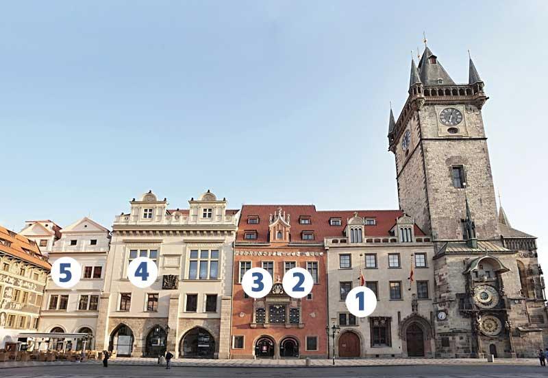 Přehled sálů Staroměstské radnice