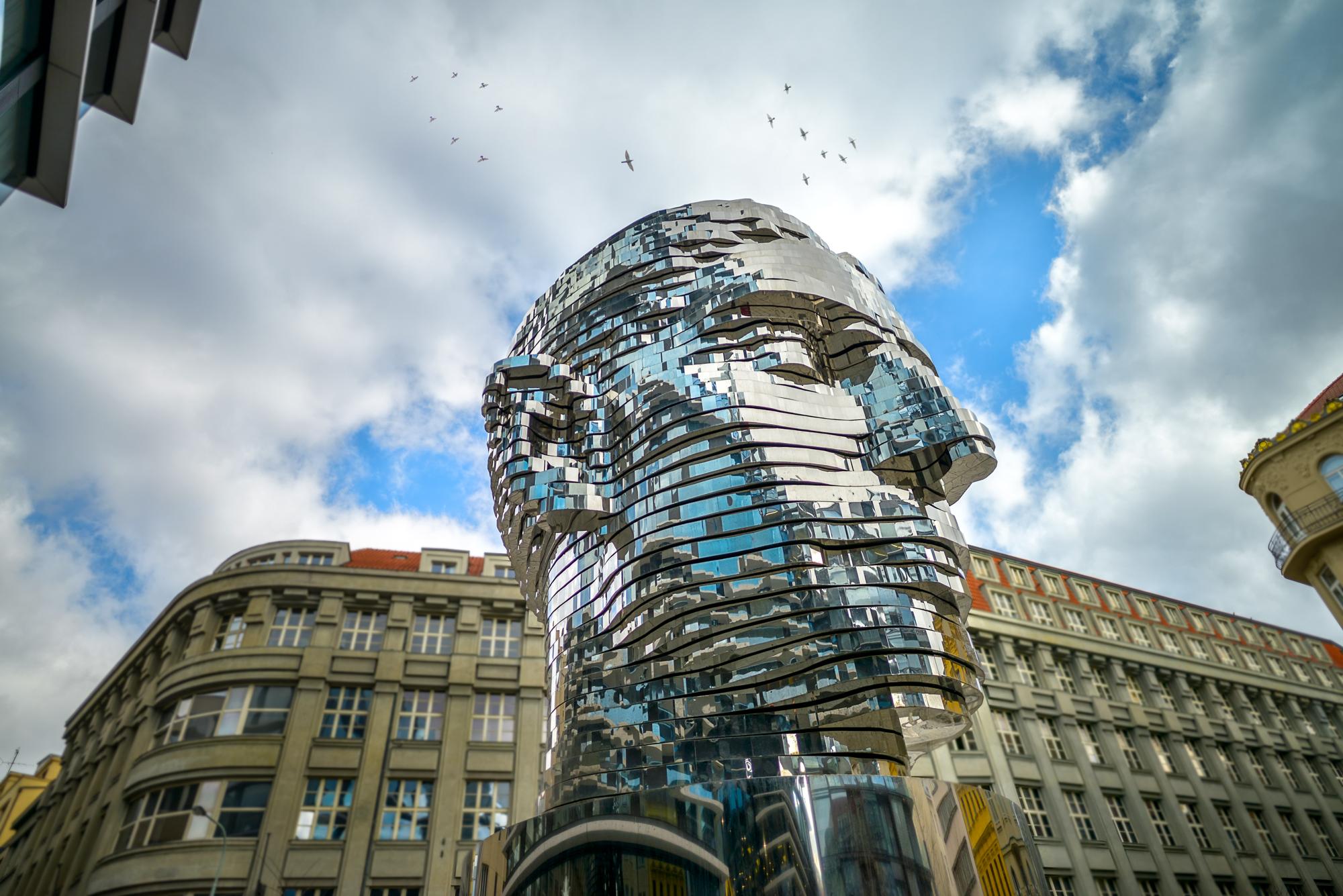 Statue Of Kafka Prague Eu